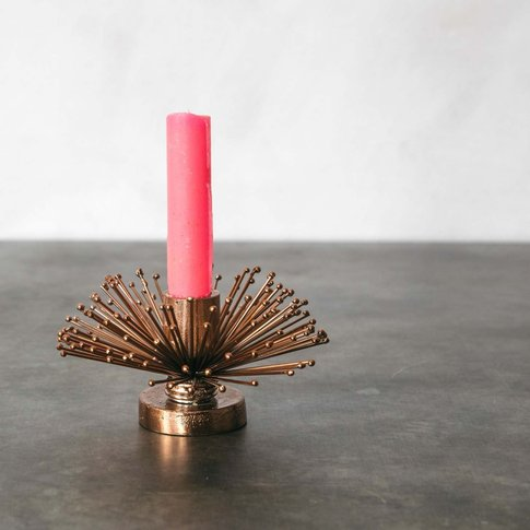 Copper Spike Candle Holder