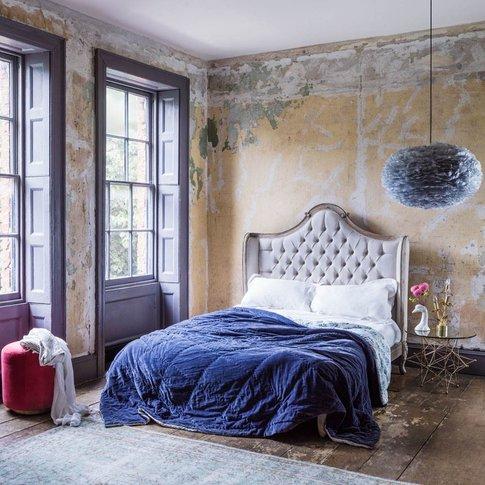 Delphine Upholstered King Size Bed