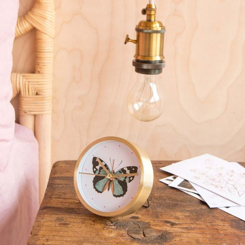 Madam Butterfly Table Clock