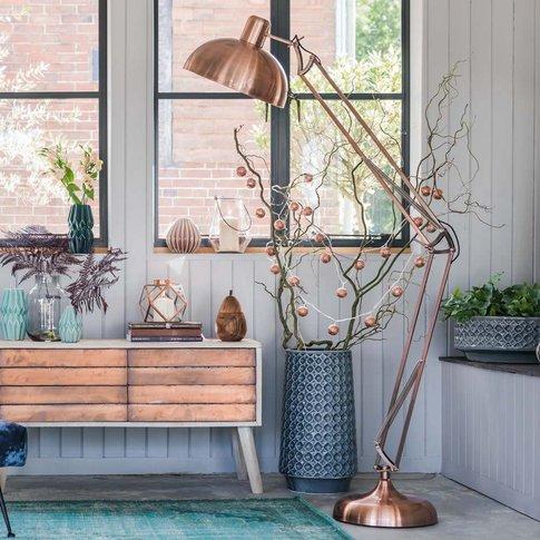 Copper Angled Floor Lamp