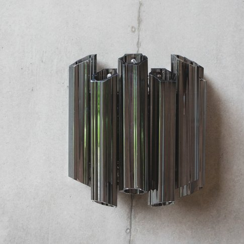 Smoked Tubular Glass Wall Light