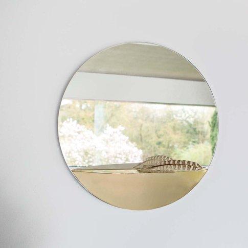 Mae Circular Mirror With Shelf