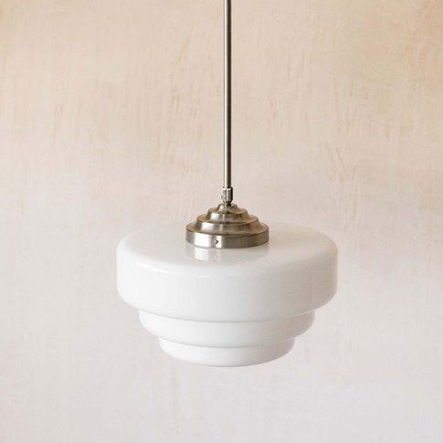 White Glass Pendant Light