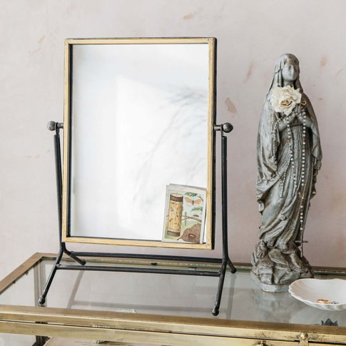 Antique Gold Table Mirror