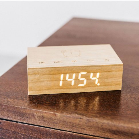 Cherry Wood Flip Click Clock