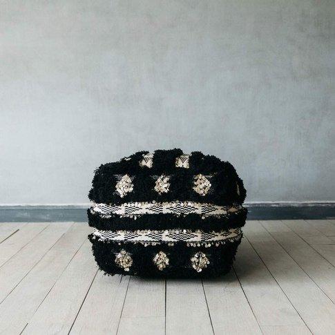 Black And Gold Benazir Pouffe