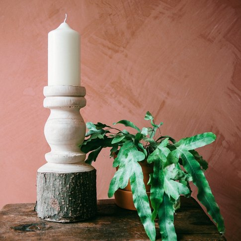 Natural Wooden Candle Holder