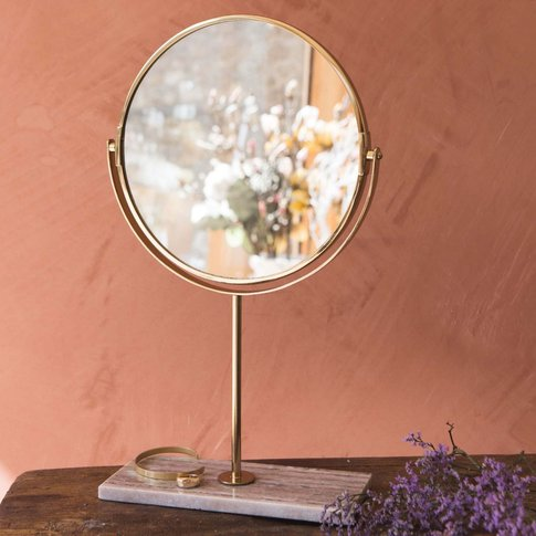 Marble Base Table Mirror