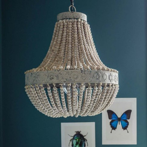 Luna Antique Beaded Chandelier