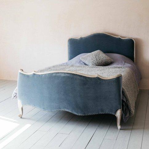Evelyn Grey Velvet King Size Bed