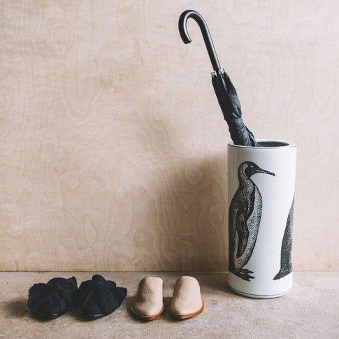 Ceramic Penguin Umbrella Stand