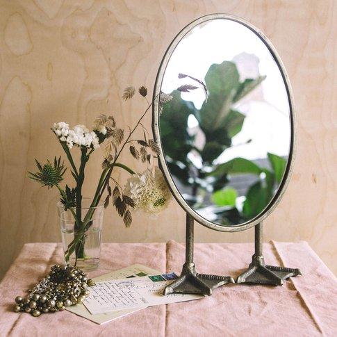 Oval Duck Feet Mirror