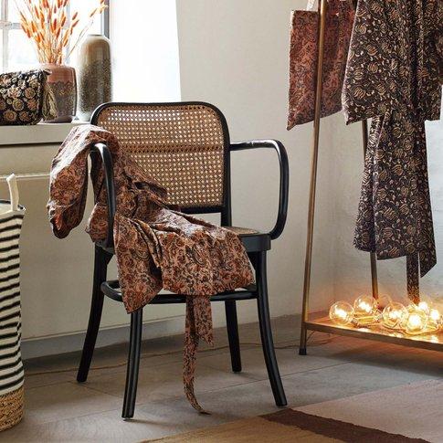 Black Elm And Cane Armchair
