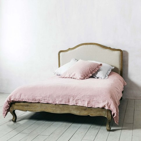 Serenity Natural Linen King Size Bed