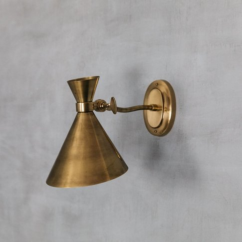 Antiqued Brass Angled Wall Light