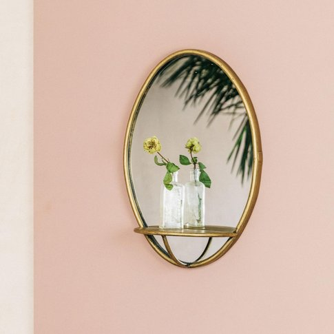 Digby Circular Mirror With Shelf