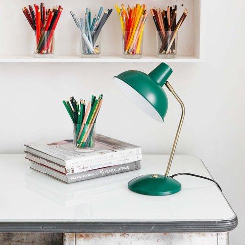 Dark Green Hood Table Lamp