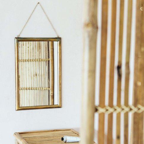 Antique Bronze Hanging Mirror