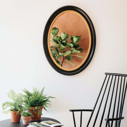 Blake Oval Black and Gold Mirror