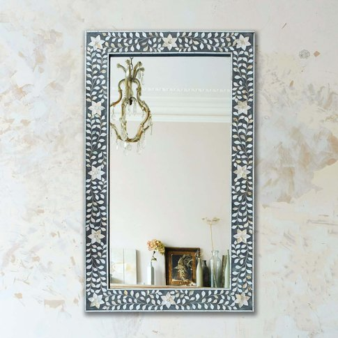 Maxi Grey Mother Of Pearl Mirror