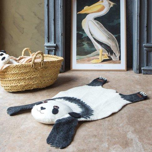 Perry Panda Felt Rug