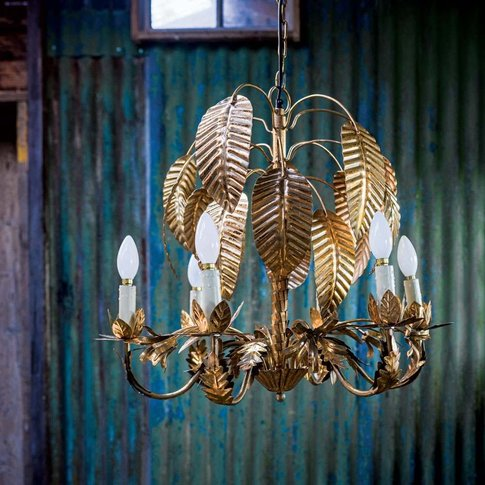 Gold Palm Tree Chandelier