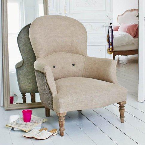 Archie Natural Linen Armchair