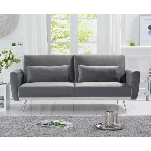 Emilia Sofa Bed in Grey Velvet