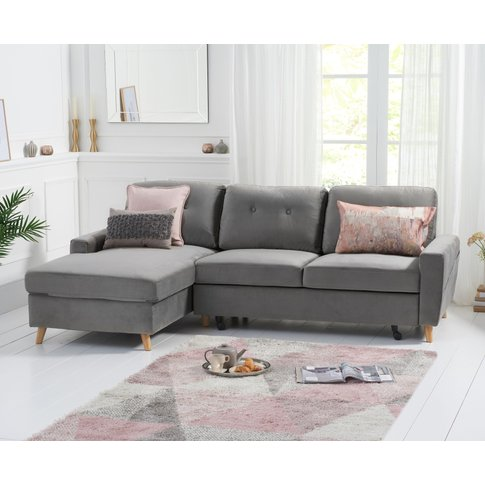 Christian Double Sofa Bed Left Facing Chaise In Grey...