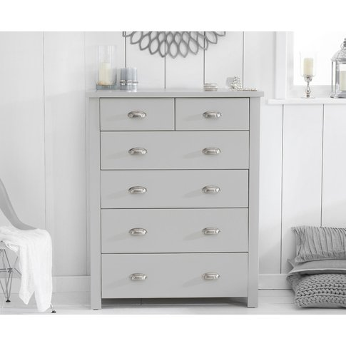 Somerset Grey 2 Over 4 Drawer Chest