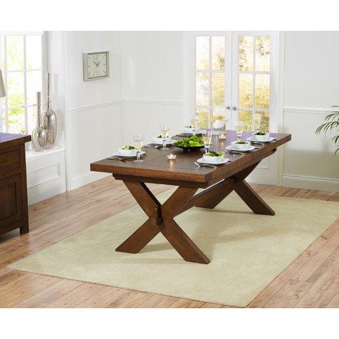 Bordeaux 200cm Dark Oak Extending Dining Table
