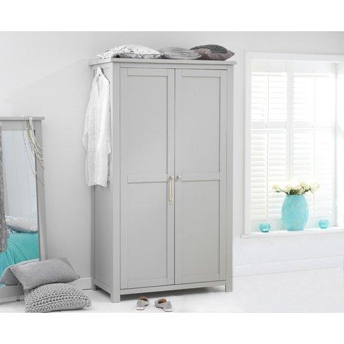 Somerset Grey Two Door Wardrobe