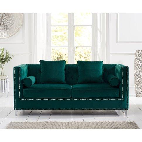 New Jersey Green Velvet 3 Seater Sofa