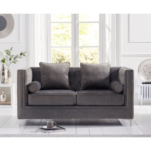 New Jersey Grey Velvet 2 Seater Sofa