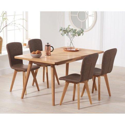 Tivoli 150cm Retro Oak Extending Dining Table With P...
