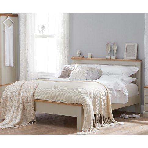 Addison Oak And Stone Painted Double Bed