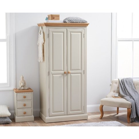 Addison Oak And Stone Painted Two Door Wardrobe