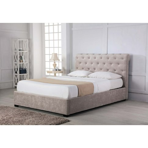 Balmoral Stone Low End Scroll Ottoman King Size Bed