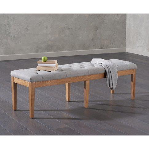 Cora 150cm Grey Fabric Bench