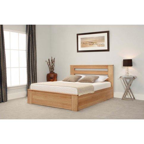 Charnwood Oak Ottoman Double Bed