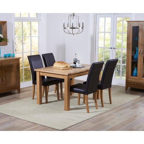Cheadle 120cm Oak Extending Dining Table With Albany...