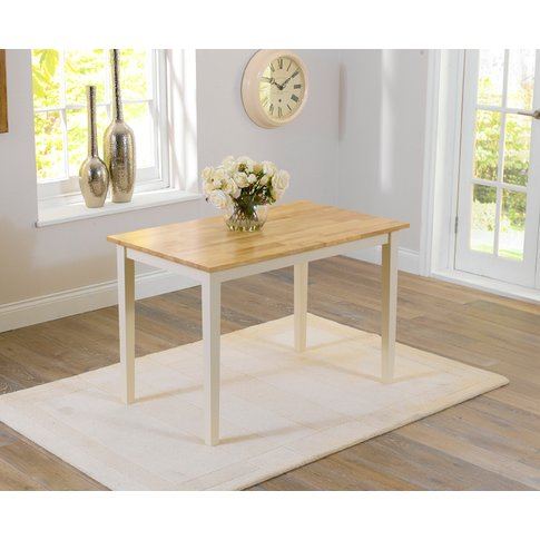 Chiltern 114cm Oak And Cream Dining Table