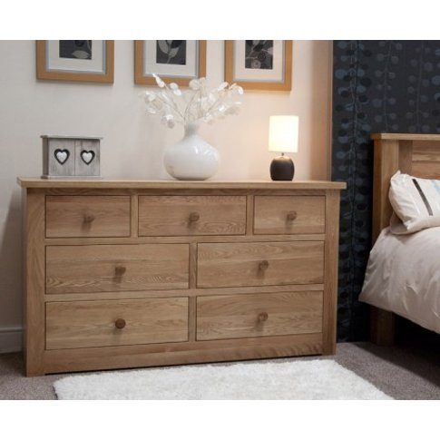 Reno Oak 7 Drawer Chest
