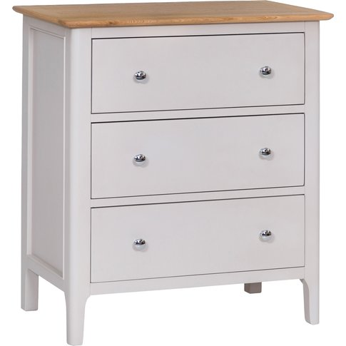 Diego Oak And Grey 3 Drawer Chest Of Drawers