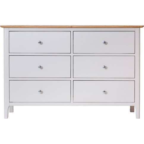 Diego Oak and Grey 6 Drawer Chest of Drawers