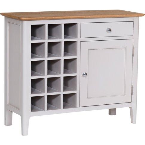 Diego Oak and Grey Wine Cabinet