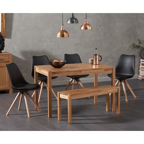 Oxford 150cm Solid Oak Dining Table With Ophelia Rou...