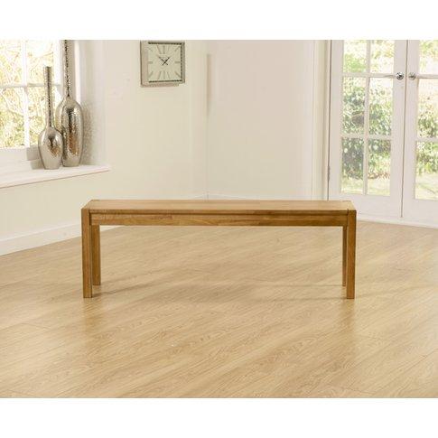 Large Oxford Solid Oak Bench