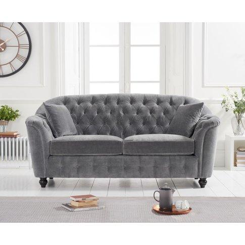 Columbus Grey Velvet 2 Seater Sofa