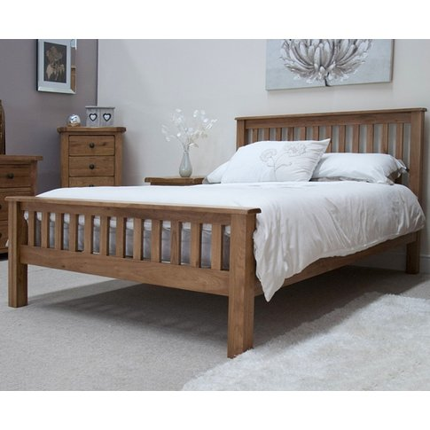 Rustic Oak Double Bed